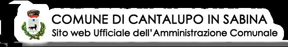 Comune di Cantalupo in Sabina - sito web ufficiale dell'Amministrazione comunale
